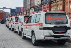 Dàn xe Mitsubishi Pajero cứu thương về nước