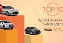 Inforgraphic: Toyota Vios 'chật vật' giữ vị trí đầu danh sách 10 xe bán chạy nhất tháng 5