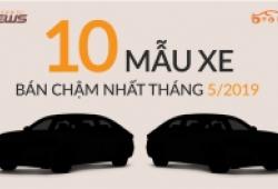 Inforgraphic: Xe Toyota chen chúc trong bảng xếp hạng 10 xe bán ế nhất tháng 5/2019