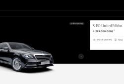 Showroom trực tuyến - điểm mới của Mercedes-Benz Việt Nam
