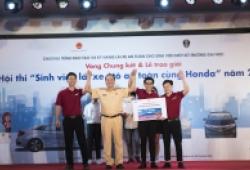 Sôi động vòng chung kết hội thi 'Sinh viên lái xe ôtô an toàn cùng Honda năm 2018'