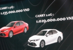Toyota công bố giá bán Camry 2019, cao nhất 1,235 tỷ đồng
