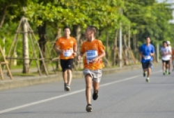 Vận động viên nhí - những chiến binh thi đấu hết mình tại Otofun Marathon 2019